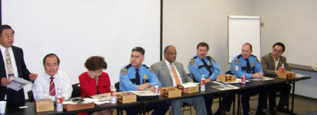 Houston Police Chief Harold Hurtt, Houston Westside Police Department, and Asian American Business Council at the monthly meeting.
