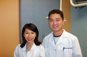 Dental hygienist Susan Nguyen and Dentist Dr. Andrew Phy Tran