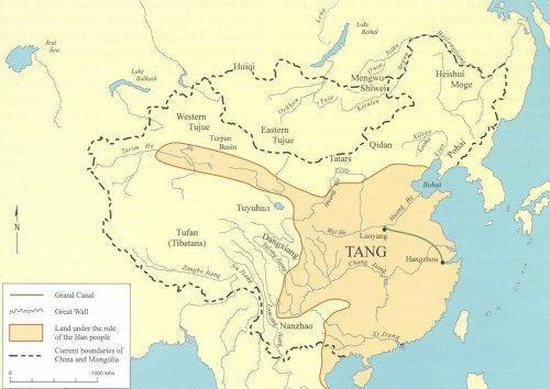Map of Tang Dynasty area