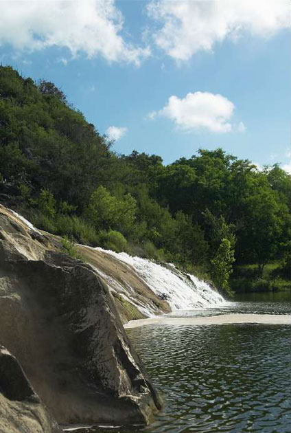 Marble Falls in Highland Lakes Area