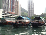 Chinese Sampans, long famous boats in China
